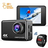 DBPOWER EX7000 Action Cam, 4K Touch Screen Action Sport Camera 14MP Fotocamera Subacquea 2 Pollici Impermeabile e Kit Accessori con Telecomando