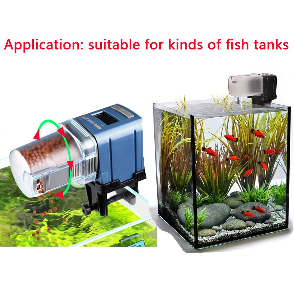 Wanyi Distributore Automático Di Cibo Pesce Per Pesci Erogatore Di Cibo Automa Pet Supplies