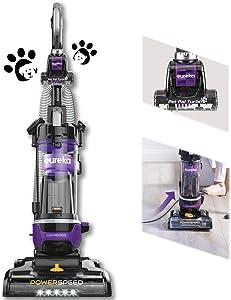 Eureka PowerSpeed Bagless Upright Vacuum Cleaner, w/Pet Tool and CordRewind, Blue, Purple