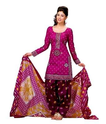 Miraan Womens Cotton Dress Material Sg302pinkone Size Amazon