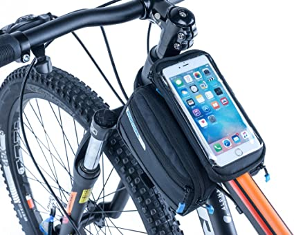 7c9e6ac8d66 VertAst Bike Frame Bag Romovable Phone Holder Bicycle Front Top Tube Double  Pouch for Iphone Samsung