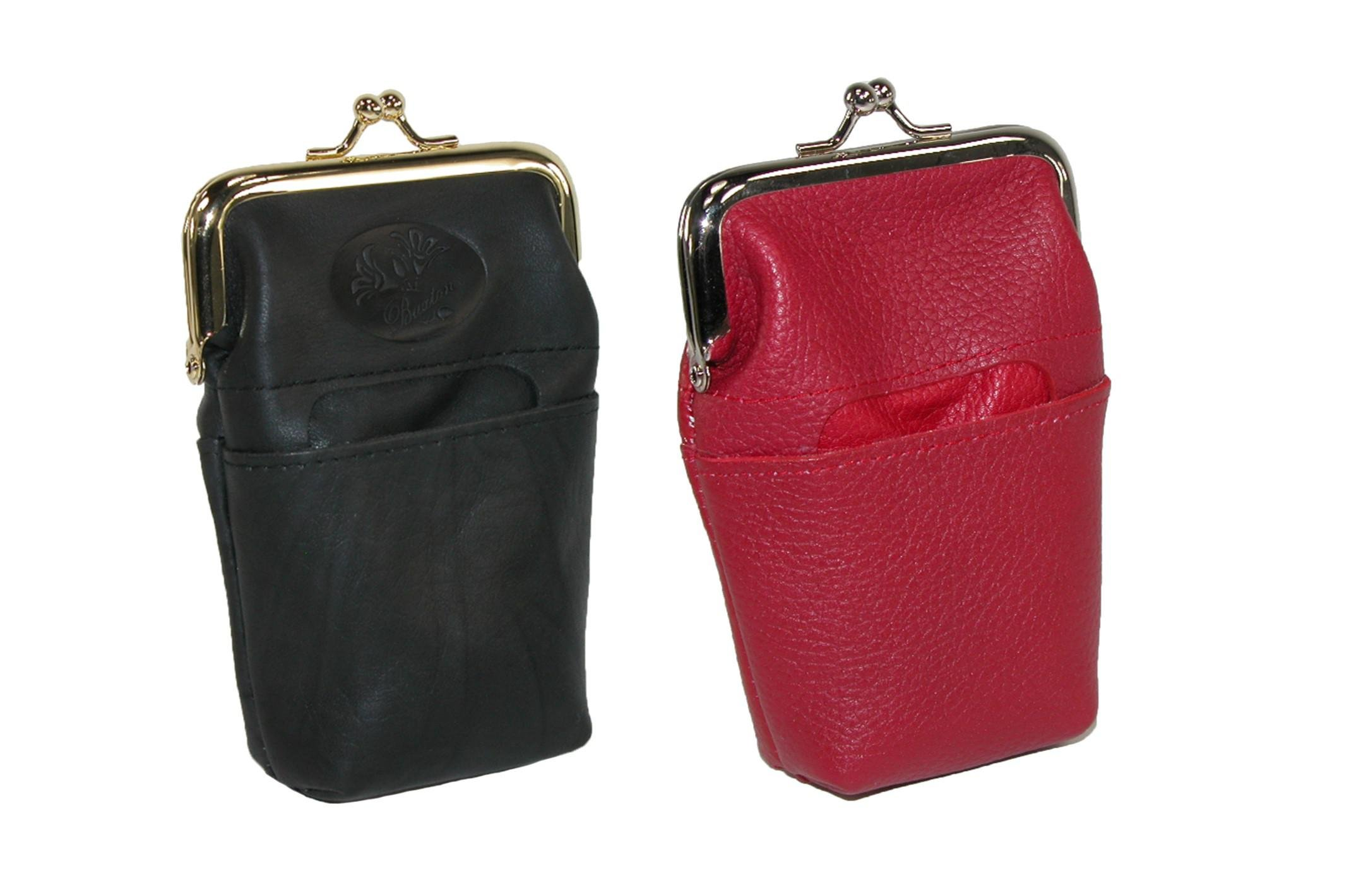 Buxton Women's Leather Basic & Fashion Framed Cigarette Cases (Pack of 2)