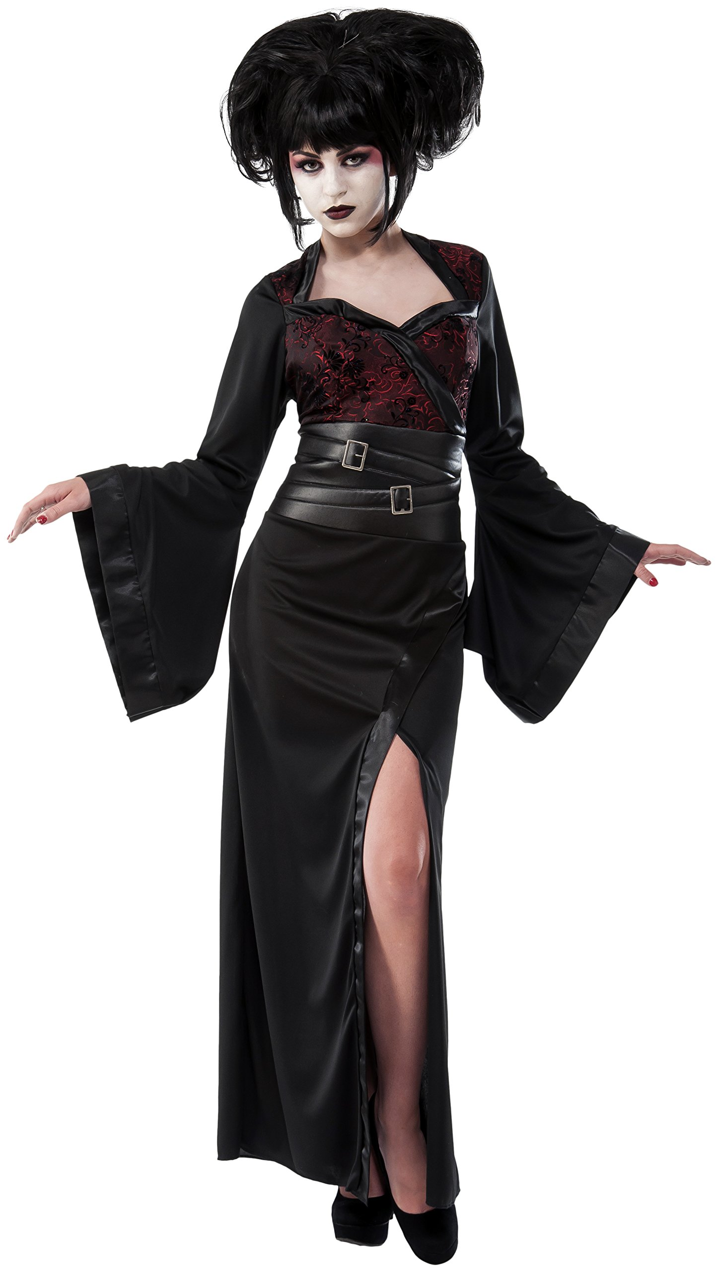 Rubie's Women's Gothic Geisha Costume, Black/Red, Standard