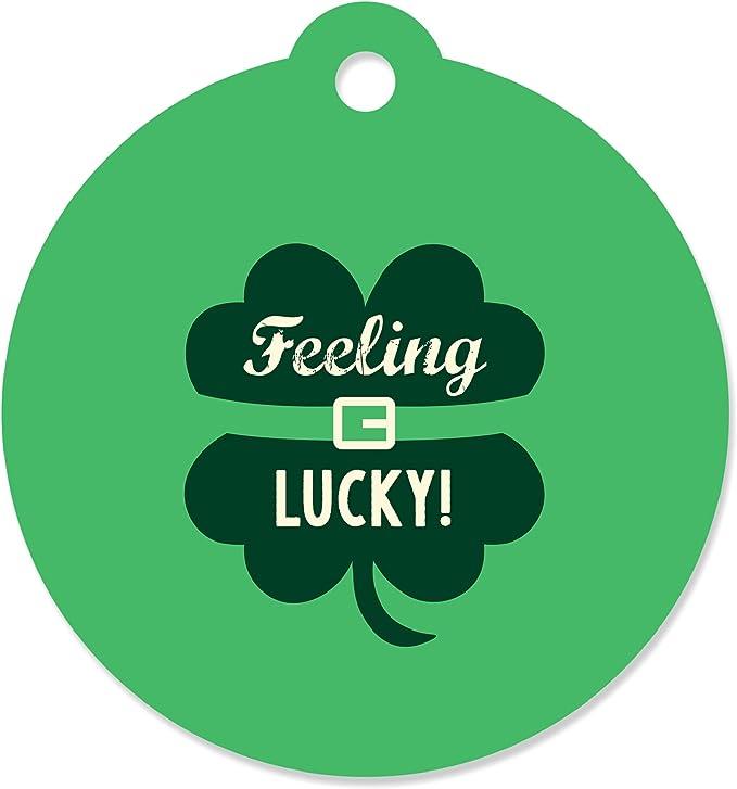 Green Owl 4 Leaf Clover Mason Jar Labels D421 Happy Saint Patrick/'s Day Party Favor Labels Gift Sticker Labels