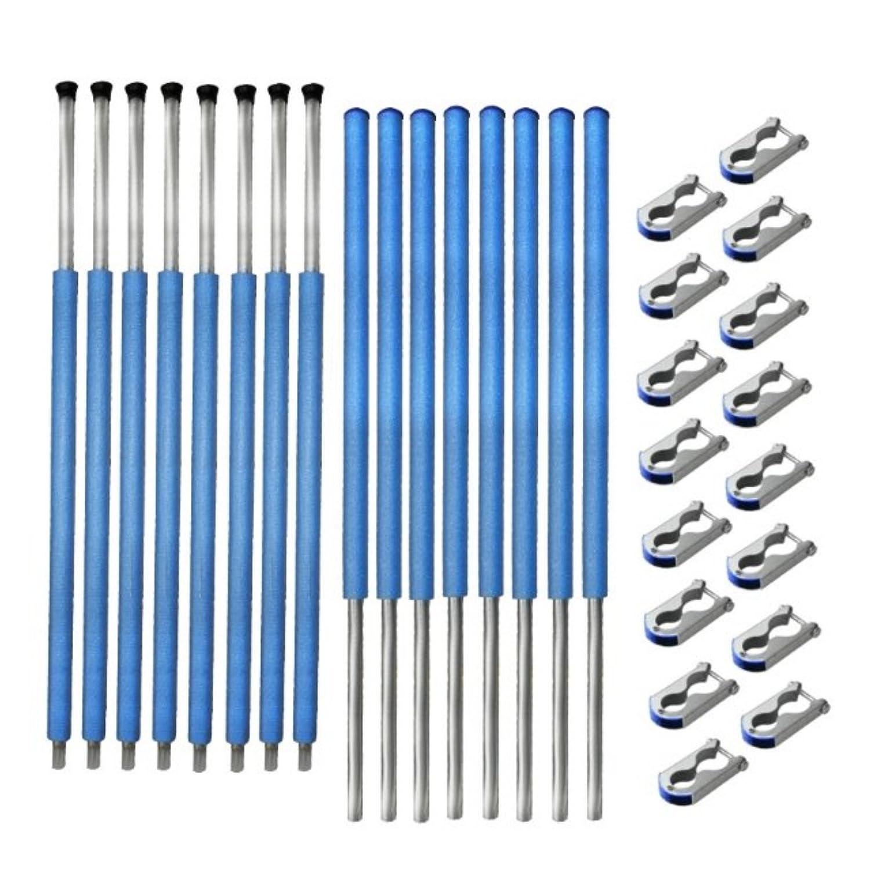 Netzstangen 8 x komplett für Sicherheitsnetz des Trampolin 366 bis 370 cm