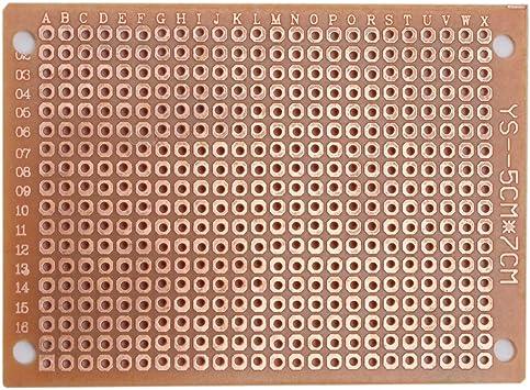 50pcs 50 mm x 70 mm Cuivre Bande Carte De Circuit Imprimé Soudure Prototype Carte De Circuit Imprimé