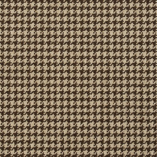 E852 Taupe and Off-White Classic Houndstooth Jacquard Upholstery Fabric By The Yard (Fabric Houndstooth Upholstery)