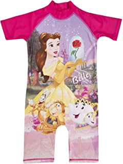 7e6efb77a3e Girls All in One Swimming Costume Suit Disney Princess Belle 18-24 ...