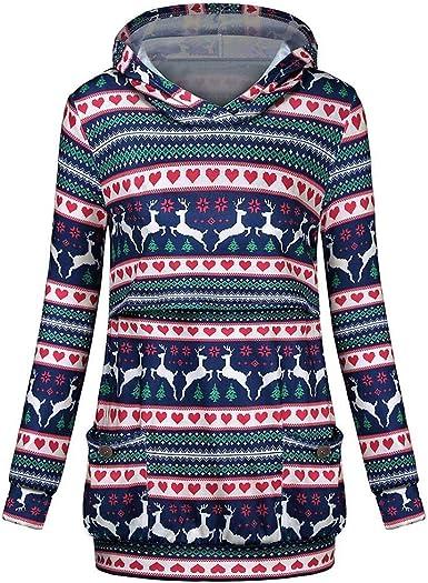 Huixin Camisa De Maternidad para Damas Lactancia Sudadera con Ropa Vintage Capucha Sudadera para Embarazadas Mamá Camiseta Clásica De Navidad Tops: Amazon.es: Ropa y accesorios