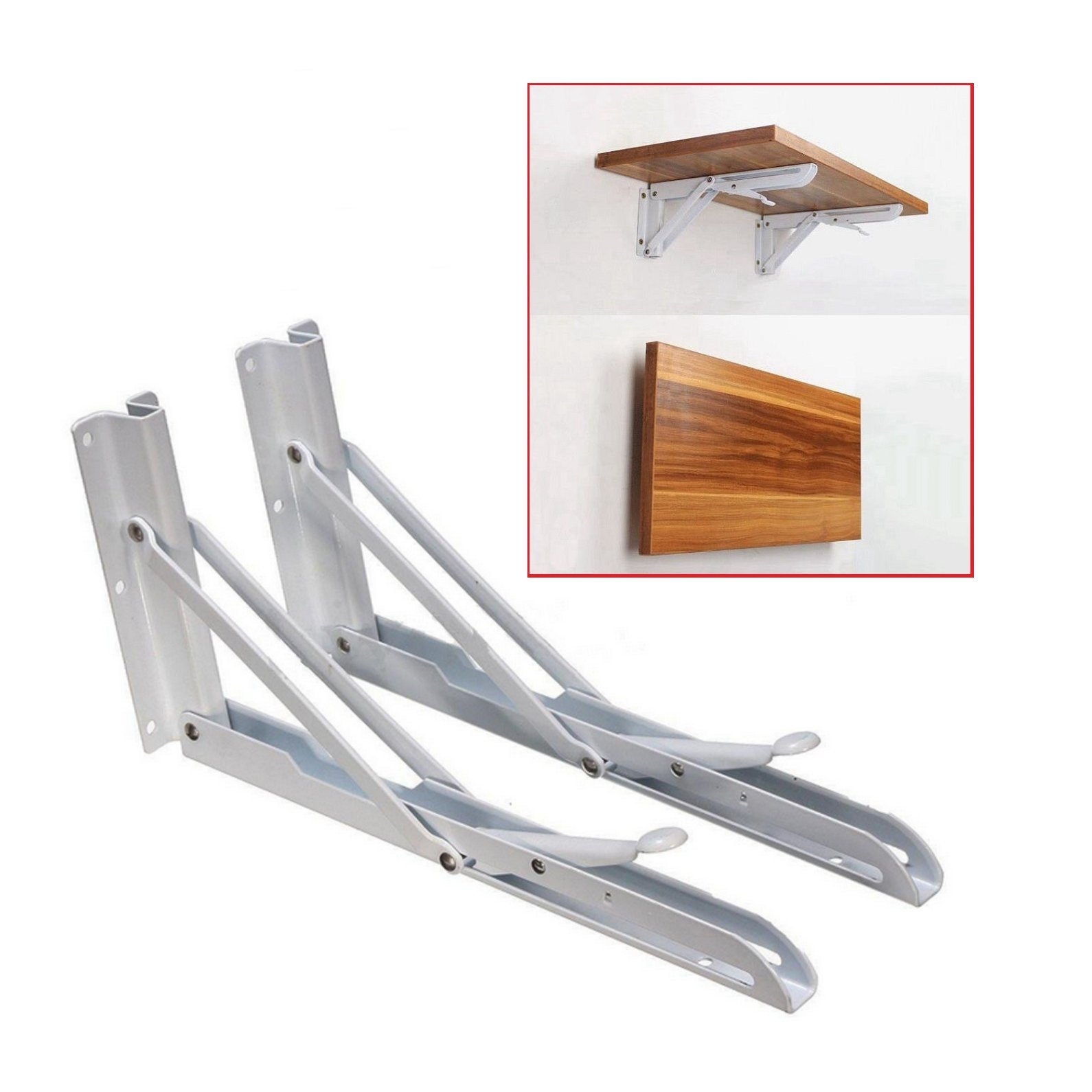 Wall Mount Bracket 90 Wall Mount Stainless Steel Folding Shelf