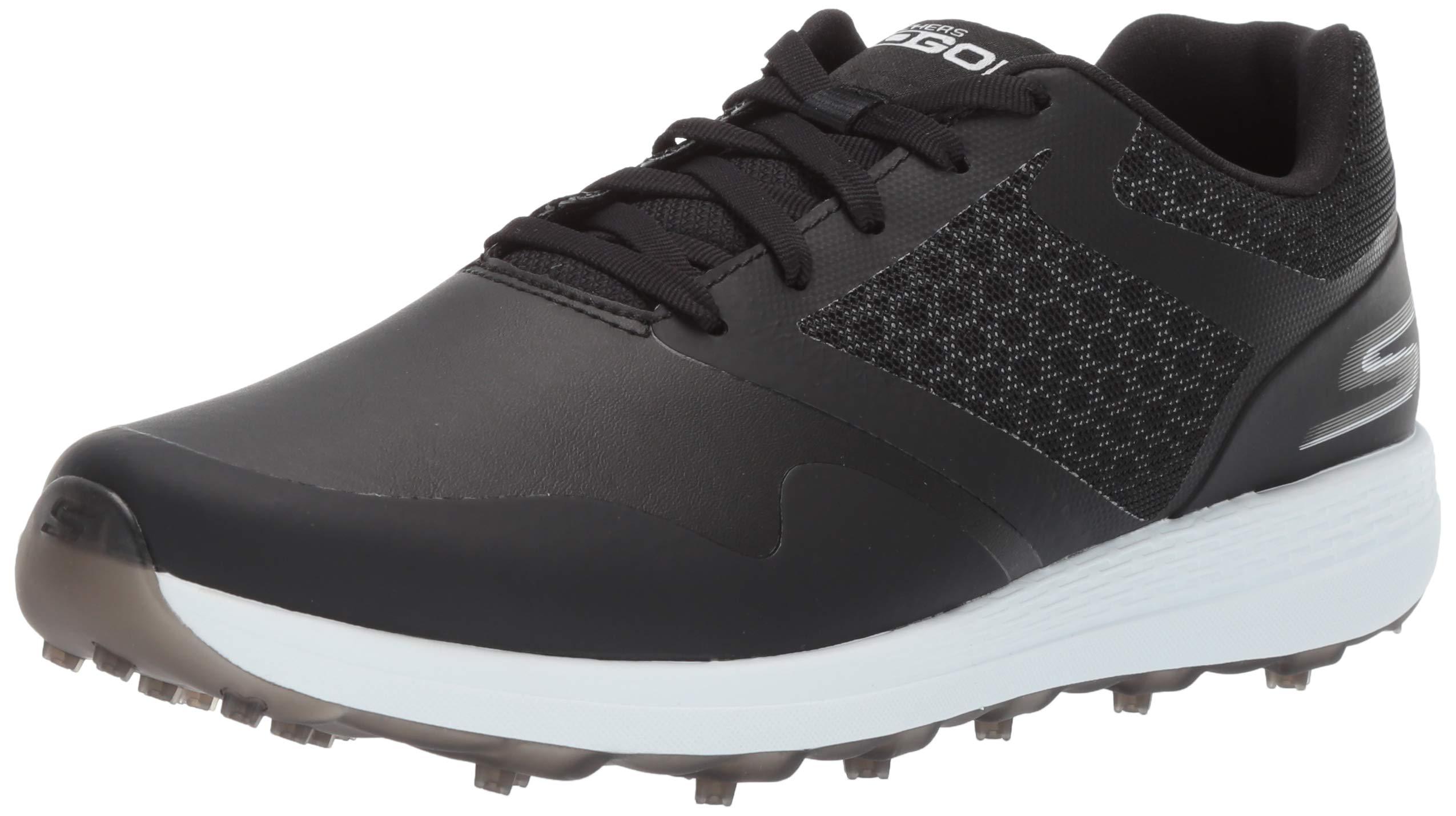 Skechers Women's Max Golf Shoe, Black/White 7 M US