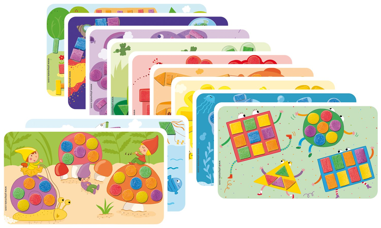 PlayMais Fun to Learn Colors /& Forms Educational Toys Arts Crafts Building Box