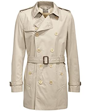 premium selection 4faf7 78f5d Burberry Brit Herren Trenchcoat - Taupe - XXXL: Amazon.de ...