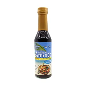 Coconut Secret Coconut Aminos - 8 fl oz - Low Sodium Soy Sauce Alternative, Low-Glycemic - Organic, Vegan, Non-GMO, Gluten-Free, Kosher - Keto, Paleo, Whole 30 - 48 Servings