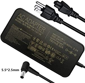 120W AC Charger for Asus FX504 N550J N550L N580G N580V GL502V GL752VW GL752VL GL752V GL753V ADP-120RH BB ADP-120RH B ADP-120ZB BB PA-1121-04 N120W-02 A15-120P1A Laptop Power Supply Adapter Cord