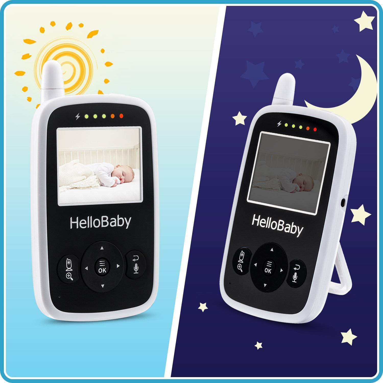 Hello Baby Wireless Video Baby Monitor with Digital Camera Night Vision Temperature Monitoring