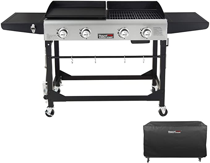 Royal Gourmet GD401C 4-Burner Portable - Best Outdoor Griddle With Foldable Legs