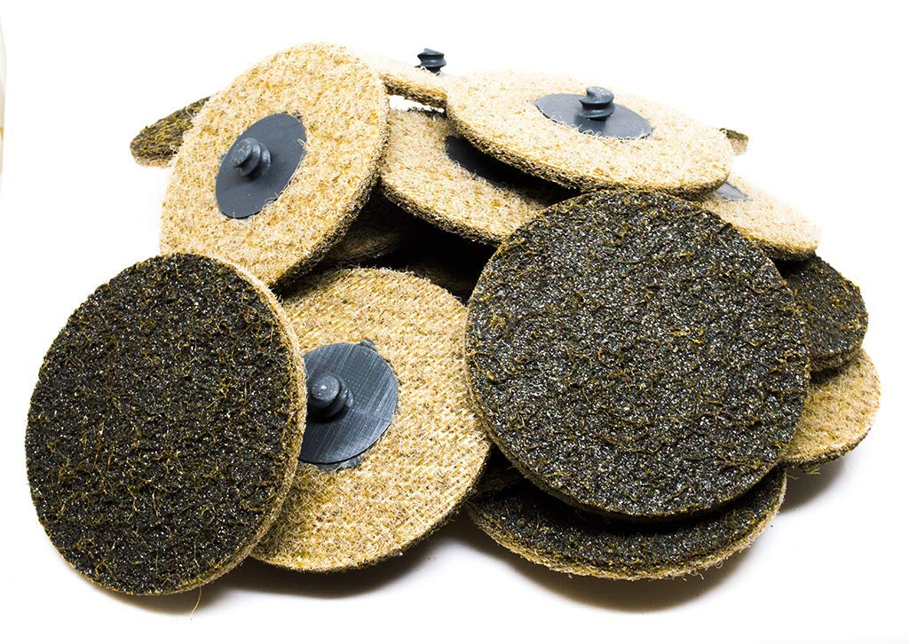 "3"" Roloc Surface Conditioning Quick Change Sanding Discs Coarse - 25 Pack 71UY70R3YbL"