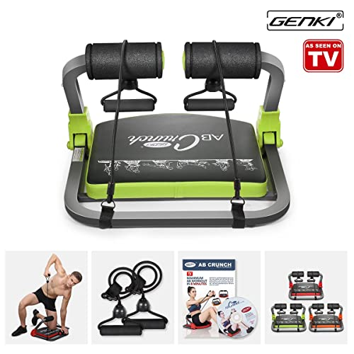 GENKI Smart Core Home Gym Abs Toning Workout Fitness Trainer with DVD Body Exercise Machine and Resistant Bands