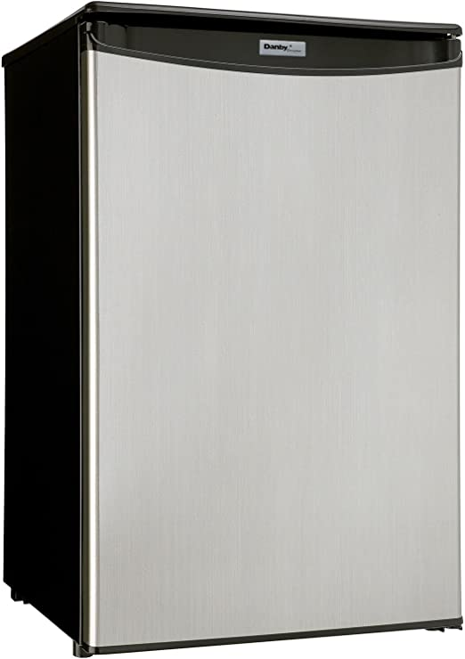 Premium Mini Fridge Appliances Compact Small Apartment Size Refrigerator in  Stainless Steel