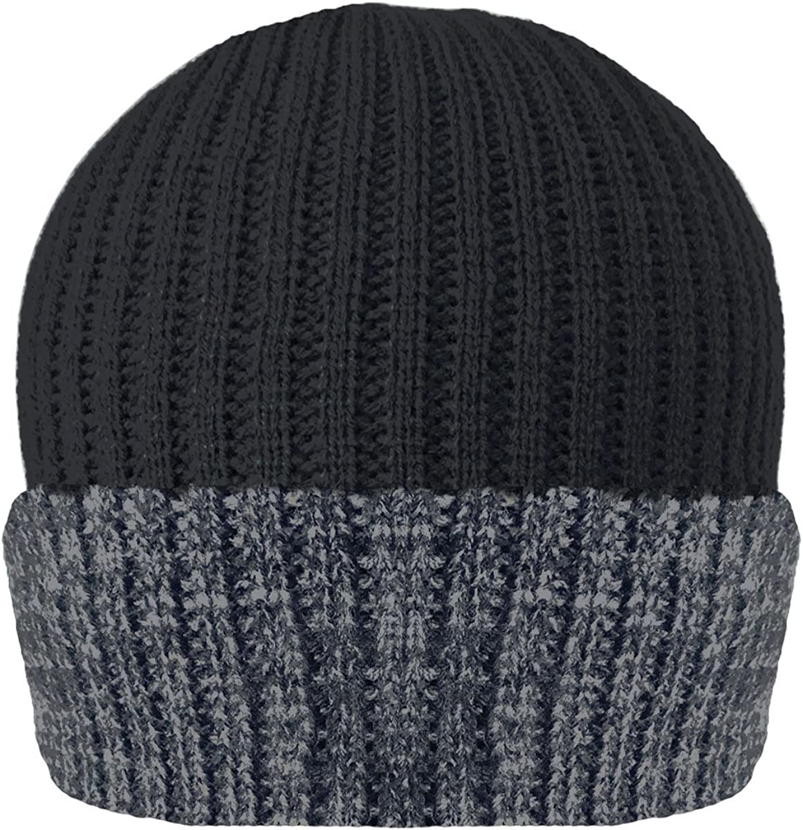 Pariella Mens Ribbed 3M Thinsulate Lined Insulating Warm Winter Beanie HAT in Melange Colours