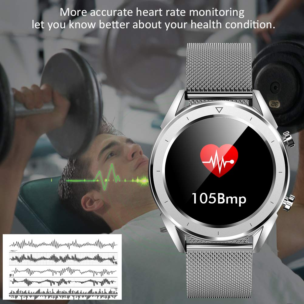 Qimaoo Smartwatch Fitness Watch con Monitor de presión ...