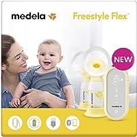 Medela Freestyle Flex sacaleches eléctrico doble con cable USB,extractor de leche con embudo Flex(talla SyM),se adapta a…