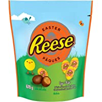 REESE Chocolate Easter Eggs, Easter Peanut Butter Candy, 670 Gram