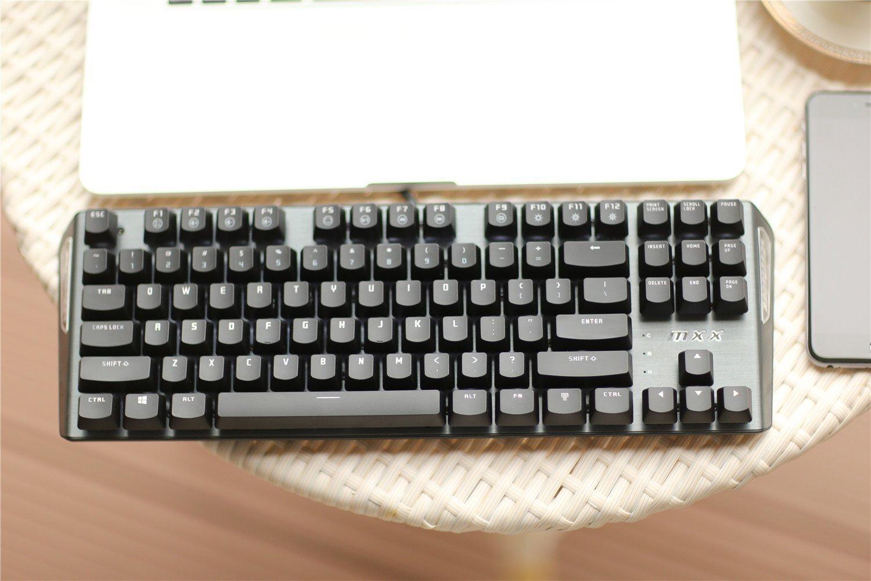 Teclado gaming Rantopad MXX 87 teclas, color Mono-Grey-Red: Amazon.es: Oficina y papelería