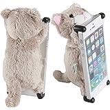 【iPhone SE対応】CHATTY 2 ネコ型ぬいぐるみiPhoneカバー for iPhone SE ねこのアイフォン 猫ケース (ベージュ)