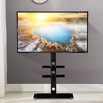 Amazoncom Mecor Universal Tv Stand With Bracket Mount Tv Floor