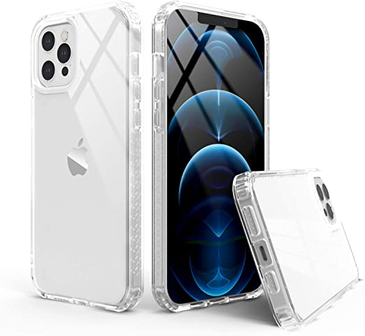 Compatible with iPhone 12//iPhone 12 Pro 2020 Slim Fit -Clear Anti-Yellowing Shockproof Protective ANEMAT iPhone 12 Case iPhone 12 Pro Case Clear 5G 6.1 inch