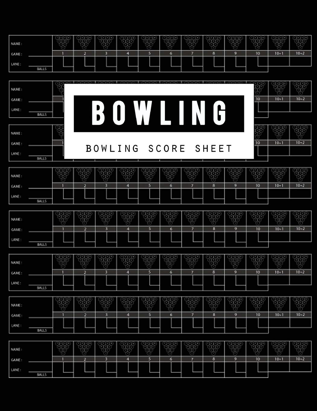 Bowling Score Sheet | Bowling Score Sheet Bowling Game Record Book Bowler Score Keeper