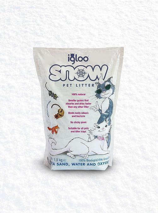 Igloo Nieve arena de sílice Pet Aserrín 1,5 kg (6 unidades)