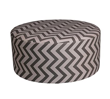 Amazoncom Privilege 68096 Round Ottoman 36 Inches Chevron Brown