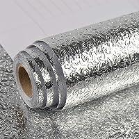 Kitchen-dream 0.3 * 10 m Zilver Folie Behang Zelfklevende Aluminiumfolie Waterdichte Wallpapers Roll Olie Proof…