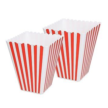 """Al palomitas popcorn Carcasa rígida """"HOLLYWOOD de caja de plástico rayas rojo de"""
