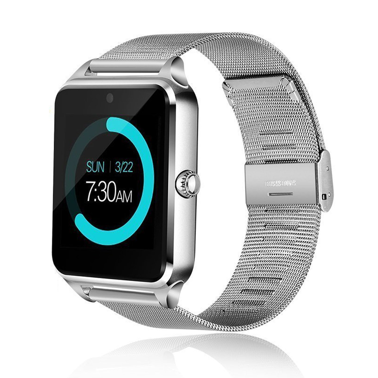 IRONLINK Smart watch GT08 Bluetooth Smart Watch Phone with Sim Card Solt anti-lost Call reminder Phone Mate (Silver)