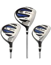 Ram Golf EZ3 Mens Steel Wood Set - Driver, 3 & 5 Wood - Headcovers Included