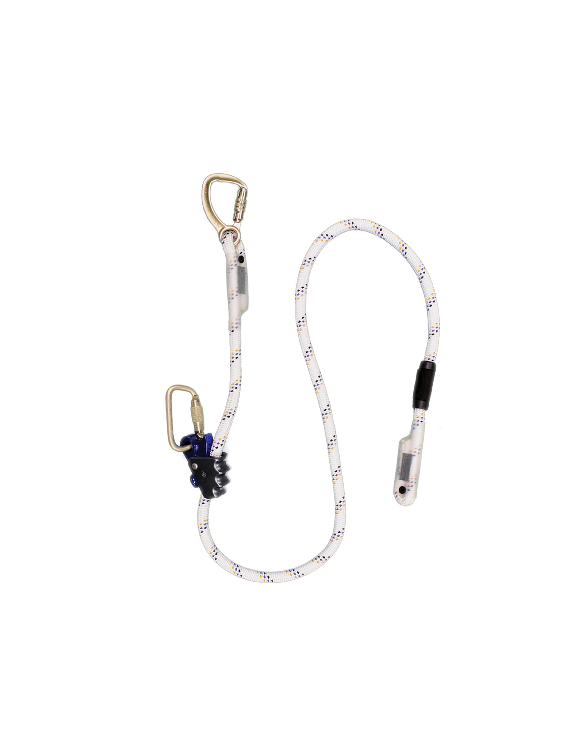 Elk River 34416 Quick-Adjustable Polyester Rope Positioning Lanyard with Carabiner and Zsnaphook, 3600 lbs Gate, 5/8'' Diameter x 6' Length