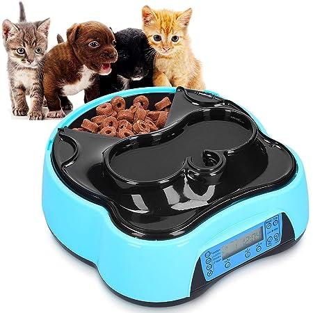 Sailnovo Futterautomat, Automatischer Futterspender für Katze und Hund, Pet Feeder mit Timer, LCD Bildschirm und Ton-Aufnahme