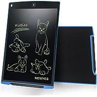 LCD Tablette d'écriture graphique dessin - NEWYES - 12 pouces Ewriter LCD Tablette d'écriture Bon Marché Mémo Pad magnétiques bloc-notes Notepad comprend 1Stylo 2 Aimants (bleu)