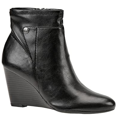 668beb1abd0 Franco Sarto Women's L-Vox Ankle Boot, Black, 10 M US: Amazon.co.uk ...