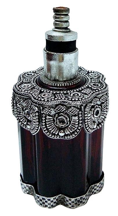 La plata antigua de la botella de cristal pulido de humo lámpara decorativa libre del alcohol