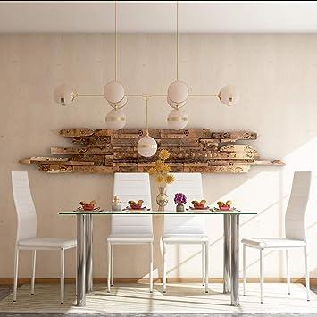 Tavolo In Vetro Bianco E 4 Sedie In Similpelle Da Cucina 120 X 70 X 75 Cm Amazon It Giochi E Giocattoli