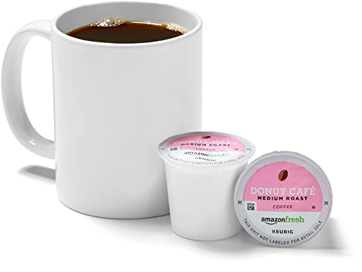 AmazonFresh 80 Ct. K-Cups, Donut Cafe Medium Roast, Keurig K-Cup Brewer Compatible