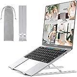 Adjustable Laptop Stand, Hoiidel Aluminum Computer Stand, Ergonomic Portable Tablet Stand Foldable Desktop Holder…