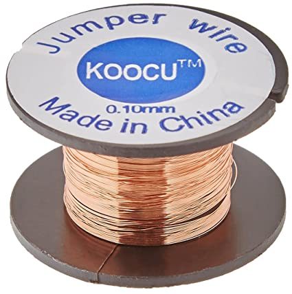 sourcingmap® 0,1 mm Diám Carrete de alambre de soldadura de reparación 20pcs chatarra