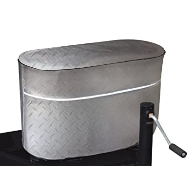 ADCO 2712 Silver Double 20 Diamond Plated Steel Vinyl Propane Tank Cover: Automotive