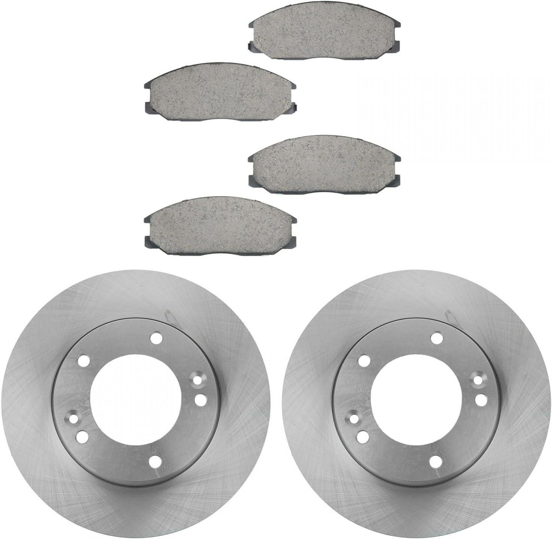 Front+Rear Brake Rotors /& Ceramic Pads For Kia Sorento